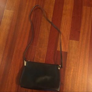 H&M: Small Black Crossbody with Gold Detailing